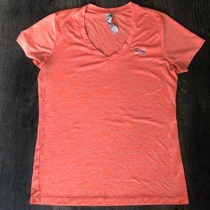Orange Under Armor workout shirt size S